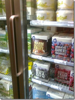 Seriously? warm fruit? In the freezer?