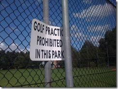 NO golf!!